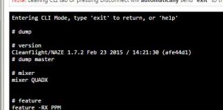 Naze32 CLI dump