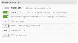 Ports ESC Features - Cleanflight