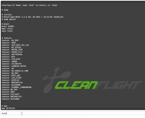 Dump - Cleanflight