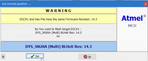 BLHeli - Flash Warning