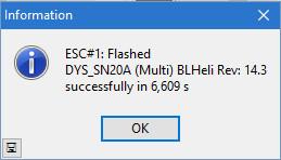 BLHeli - Flashed