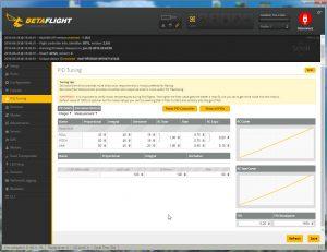 Betaflight Configurator - PID Tuning