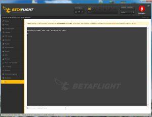 Betaflight Configurator - CLI